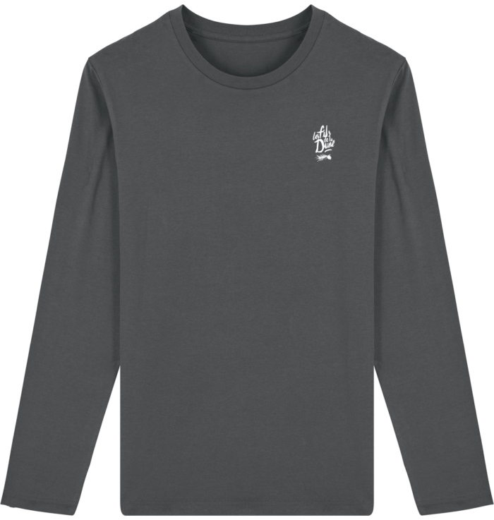 Tee Shirt Homme Col Rond Manches Longues – Anthracite